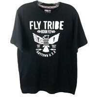 Born Fly TShirt Black Short Sleeve Raised Letters Fly Tribe Size Large Men's Tee