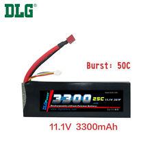 Genuine DLG RC Battery 11.1V 3S 25C 3300mAh Burst 50C Li-Po LiPo Dean's T plug