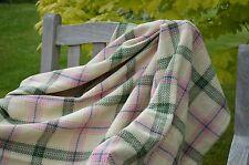 THROW, 100% Cotton Lulworth Cream Check Picnic Blanket Bedspread 135x152cm