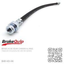 BRAKEQUIP BRAKE HOSE REAR CHASSIS to AXLE [HOLDEN HK UTE/VAN/SED/WAG/MONARO GTS]