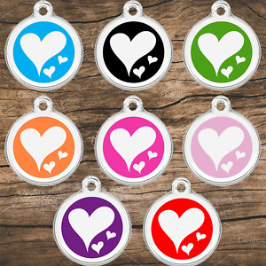 Stainless Steel With Enamel Pet ID Tags Designers Hearts by CNATTAGS