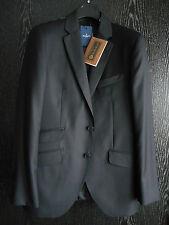 New HACKETT LONDON black LORO PIANA 120's wool Plain CHELSEA suit 40R/50R RRP700