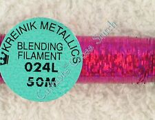 Kreinik Blending Filament 024L Fiery Fusia Pink Holographic Metallic Thread 50M