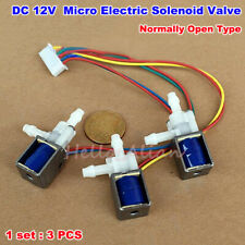 1Set DC12V Normally Open Electric Solenoid Valve 1-Way 2-Position Oxygen Machine