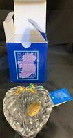 "Killarney Crystal Heart Shaped Trinket box 22 CT. Gold Finishing 3 3/4"" W Boxed"