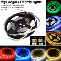 3-16FT SMD 3528 5050 60 300 LED Flexible Light Strip Car Lamp Birthday Party 24V