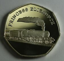 THE PRINCESS ELIZABETH Steam Engine Collectable Medal/Token, Fine Silver Railway