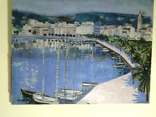 MICHEL HENRY Navy, Painting oil on canvas, original. XXX rare 99 x 80 cmts