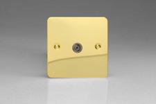 VARILIGHT 1-gang TV Plug Socket Co-axial Polished Brass XFV8