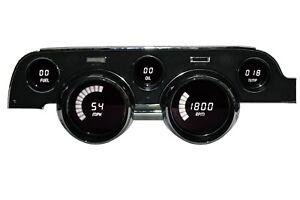 1967-1968 Ford Mustang Digital Dash Panel Cluster Gauges WHITE LEDs