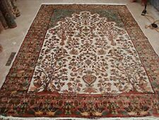 Exclusive Tree of Life Peace Birds Hand Knotted Rug Silk Wool Carpet (10 x 7)'