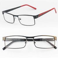 Reading glasses Metal hinge clear lens new metal frame men women strength power