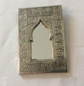 Vintage Shrine Mirror - Pocket Mirror - Signed Back - Rare & Unique