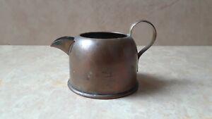 Vintage Copper Creamer w/ Brass Handle, Copper Sugar Gravy Milk Dish, Serveware