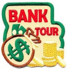 Girl Boy Cub BANK TOUR Visit Money Dollars Fun Patches Crests Badges SCOUT GUIDE