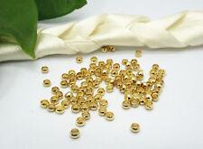 10000 Dark Golden Plated Round Crimp Beads 2.5mm Wholesale