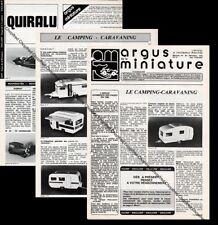 ARGUS DE LE MINIATURE N°20 Décembre 1979 Quiralu Norev Caravaning Miniature Auto