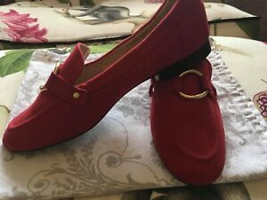 Red Faux Suede Dorothy Perkins Pumps Size 6
