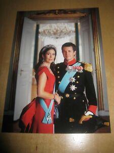 Crown Prince FREDERIK Princess MARY Rare Postcard Denmark Royal #P15
