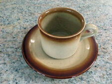 VINTAGE T.G.GREEN WOODVILLE COFFEE CUP & SAUCER BROWN CREAM