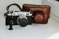 FED-2 35mm USSR Rangefinder Film Camera (copy Leica) w/s lens industar-26M