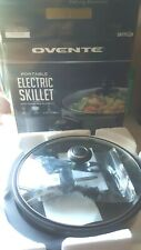 Ovente Portable Electric Skillet with Tempered Glass Cover/Lid NIB