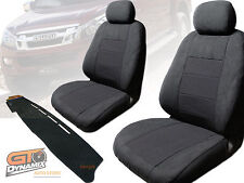 Isuzu D-MAX TF SX CREW CAB Seat Covers F+R + Dash Mat BUNDLE 6/2012-2018 DM1282