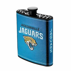Pro Specialties Group NFL Jacksonville Jaguars Plastic Hip Flask, 7-Ounce