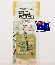 YANKEE CANDLE * Sage & Citrus * CAR JAR AIR FRESHENER FOR CAR OR HOME ~