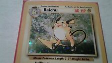 Holo Foil Raichu # 14/102 Original Base Set Pokemon Trading Cards Rares NP