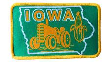 Iowa Tractor Corn Farm Farming Embroidered Patch 3x5  Iron On