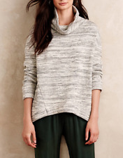 ANTHROPOLOGIE SATURDAY SUNDAY SPACE DYE GRAY COWL NECK SWEATER PULLOVER Sz XL