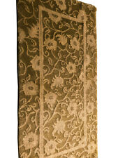 Vintage Rug Fine Tibetan Rug Handmade Rug Olive Gold 2x4 C.1970 2'x4' rug