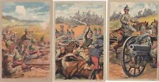 Guerre 14-18  3 Cartes  PROPAGANDE ARMÉE ALLEMANDE AU COMBAT