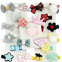Kid Lots Star Flower Bow Clip 5Pcs/set Hair Baby Clips Barrettes Hairpins
