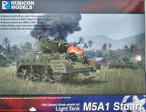 Rubicon 1/56 (28mm)  RB280023 M5A1 Stuart Light Tank Model Kit