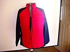 NWT Ralph Lauren LRL Active women's full zip pink/navy fleece quilted Jacket 2X