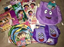 DORA THE EXPLORER BIRTHDAY PARTY SUPPLIES PLATES Table Cover Napkins Blow Toy