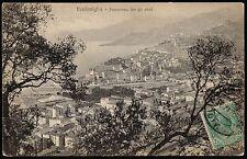 AX0117 Imperia - Provincia - Ventimiglia - Panorama tra ulivi - 1923 postcard