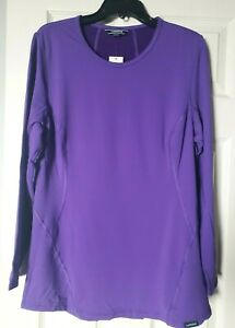 LAND'S END Women Wool Blend Thermal Base Layer Top Purple PLUS SIZE 2X