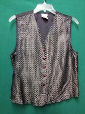 Jaclyn Smith Vintage Vest, Back Tie, Button Front Size Medium