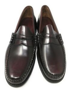 GH Bass & Co Weejuns Mens Size 10 M Leather Shoes Penny Loafers Burgundy New