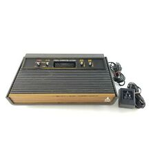Atari 2600 Console CX-2600A 4-Switch Woodgrain Vintage and Power Supply USA Made