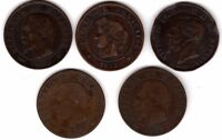 French 5 Centimes & Italy 5 Centesimi Coins | Pennies2Pounds (E2)