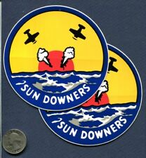 Decal Set VF-111 SUNDOWNERS US NAVY F-14 TOMCAT Fighter Squadron Patch Image