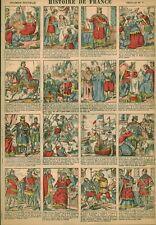 Gravure ancienne  image d'Epinal histoire de France feuille no 7