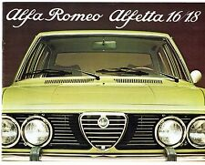 Alfa Romeo Alfetta Saloon 1975-77 Italian Market Sales Brochure 1.6 1.8