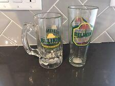 Lot Of 2 Belikin Beer Glasses The Beer Of Belize EUC
