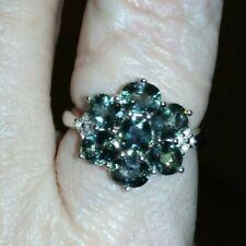 RARE Tunduru Colour Change Sapphire & White Topaz Sterling Silver Ring 3.32cts~