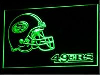San Francisco 49ers Helmet LED Neon Sign Light NFL Football Sports Team